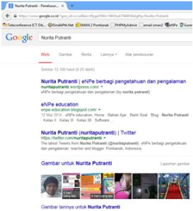 cari nurita putranti di google